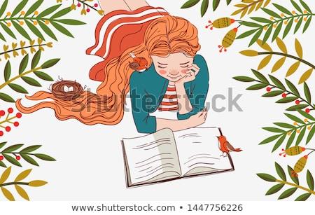 kobieta · portret · dziewczyna · zielona · trawa - zdjęcia stock © smithore