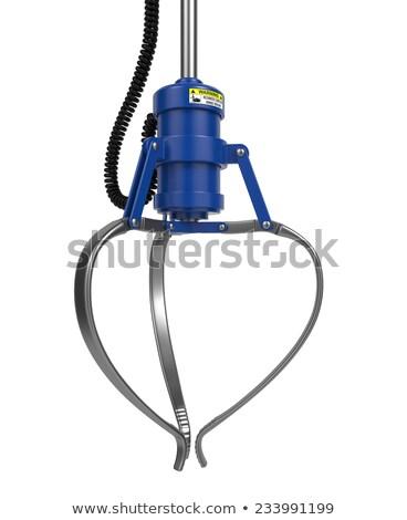 Fermé métal robotique griffe bleu couleur Photo stock © tashatuvango
