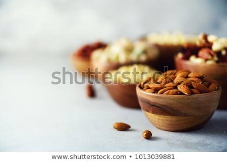mazsola · mandulák · közelkép · étel · csoport · fehér - stock fotó © cwzahner