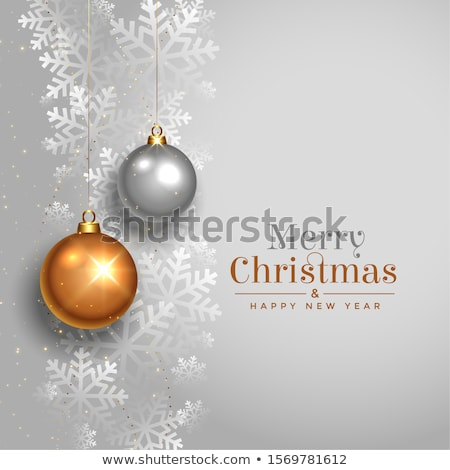 silver christmas wishes card on snow stock photo © dla4