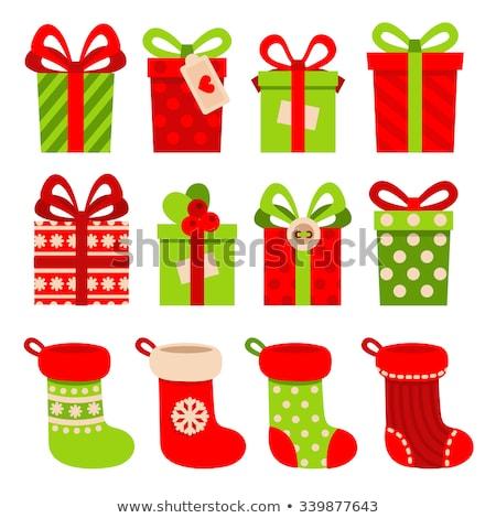Noël cadeaux chaussettes matin famille mère Photo stock © Vg