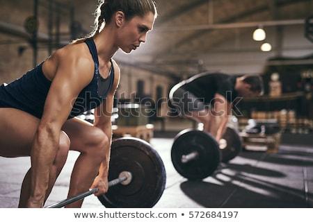 mujer · muscular · doble · bíceps - foto stock © Norberthos
