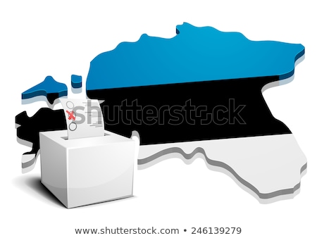 Estland gedetailleerd illustratie kaart eps10 vector Stockfoto © unkreatives
