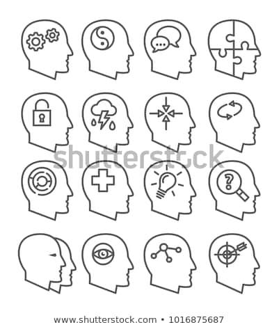 здоровья поведение иконки белый складе вектора Сток-фото © nalinratphi