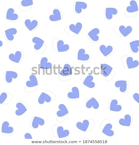 azul · sem · costura · coração · padrão · projeto · papel - foto stock © slunicko