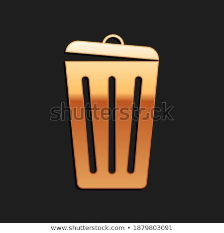 Recycle Bin Golden Vector Icon Button Stock photo © rizwanali3d