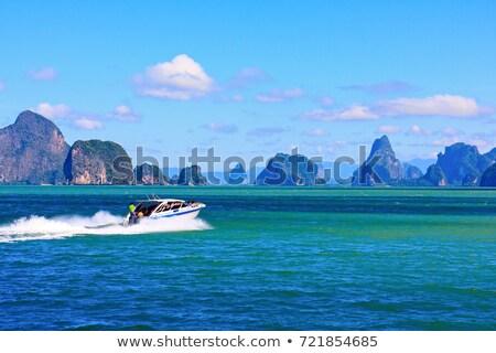 верховая езда быстро моторная лодка движения расплывчатый воды Сток-фото © remik44992