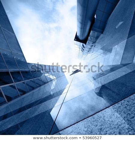 moderne · architectuur · calgary · hemel · stad · Blauw · reizen - stockfoto © benkrut
