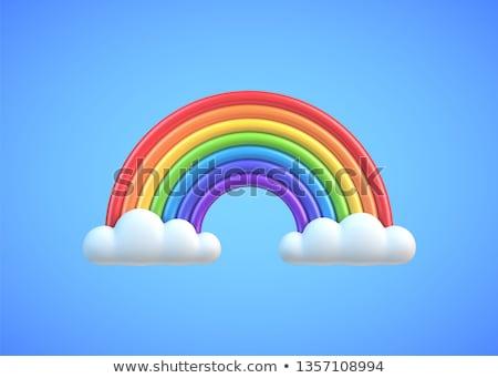 spektrum · színes · hullámok · fehér · elemek · absztrakt - stock fotó © adamr