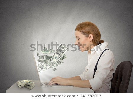 Happy woman makes online oder Stock photo © ichiosea