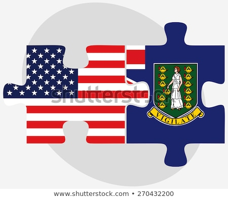 USA britisch Virgin Islands Fahnen Puzzle Vektor Stock foto © Istanbul2009