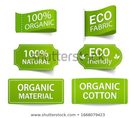 verde · establecer · eco · etiquetas · gradiente - foto stock © oblachko