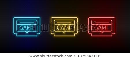 Stock photo: Electronic Equipment Square Vector Yellow Icon Design Set