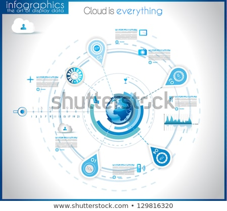 infographic template for modern data visualization and ranking stock photo © davidarts