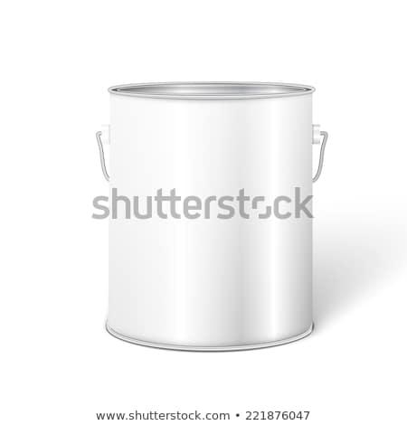 Bianco alto vasca secchio di vernice contenitore metal Foto d'archivio © netkov1