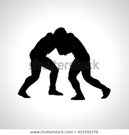 Mannen worstelen vector icon element symbool Stockfoto © blaskorizov