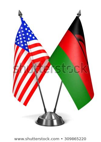 США Малави миниатюрный флагами изолированный белый Сток-фото © tashatuvango