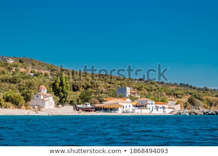Görög ortodox templom Görögország épület kereszt Stock fotó © jeancliclac