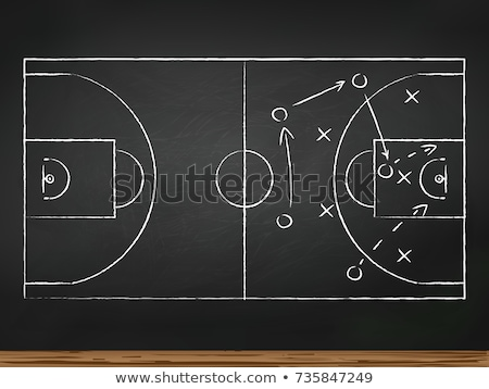 business team icon drawn in chalk stock photo © rastudio