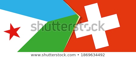 Switzerland and Djibouti Flags Stock photo © Istanbul2009