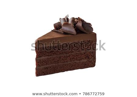 Fatia bolo de chocolate branco chocolate fundo sobremesa Foto stock © paulovilela