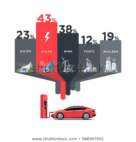 Stock photo: An infographic showing the fuel consumption