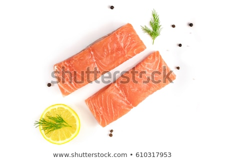 Raw trout with lemon and dill Stock photo © Digifoodstock