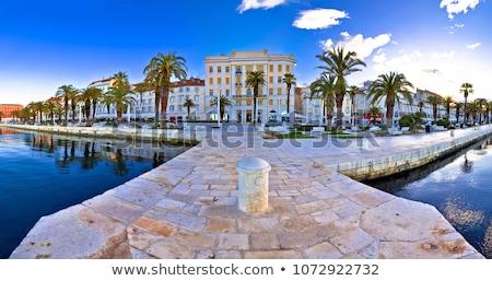 Panoramique vue Croatie tour palais rue Photo stock © smuki