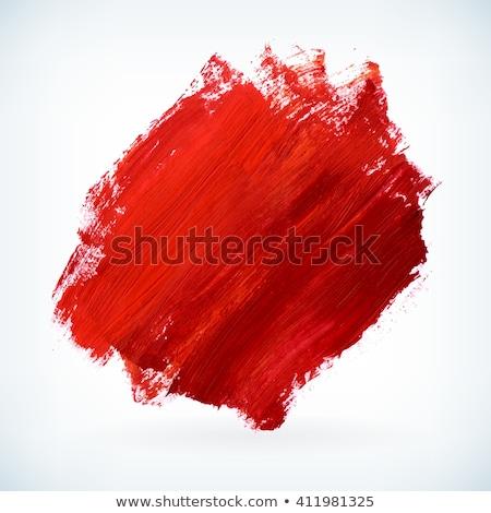 Stok fotoğraf: Kırmızı · boya · beyaz · sanat · boyama · renk