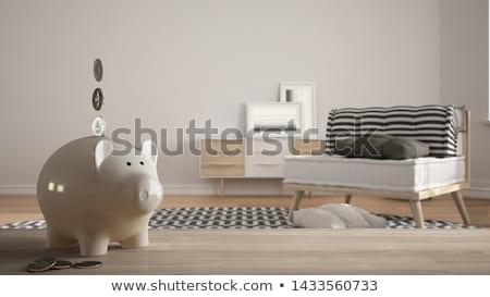 Budgétaire table en bois mot bureau argent éducation Photo stock © fuzzbones0