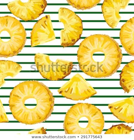 Vecteur modèle juteuse ananas tranches Photo stock © adrian_n