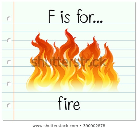 Flashcard letter F is for flame Stock photo © bluering