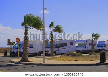 Camper vans parking along the road Stock photo © bluering