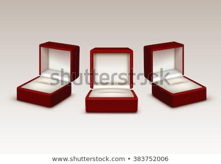 宝石 ボックス 赤 空っぽ ベルベット 孤立した ストックフォト © coprid