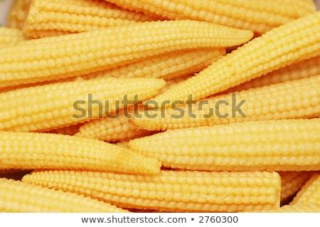 bebek · mısır · yemek · sebze · sarı - stok fotoğraf © rufous