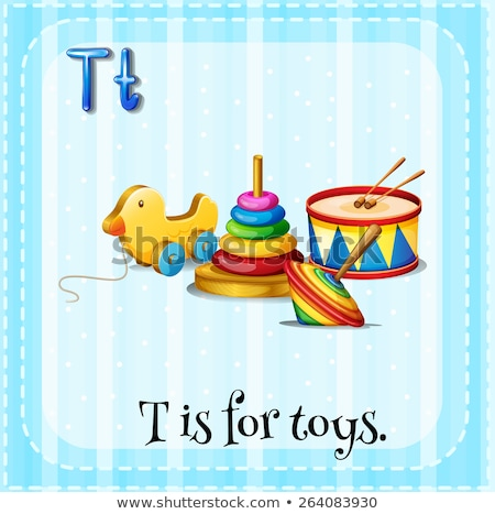 Flashcard letter T is for toy Stock photo © bluering
