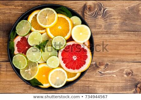 グレープフルーツ オレンジ レモン 木材 ストックフォト © ozgur