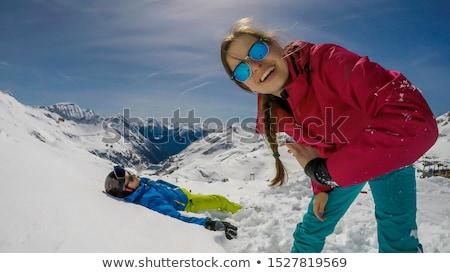 少女 雪 実例 白 レジャー スノーフレーク ストックフォト © adrenalina