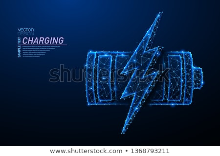 Thunder Sphere Abstract Icon Stock photo © cidepix