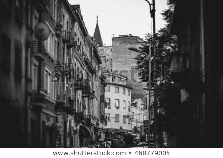 Rua Belgrado Sérvia cidade urbano preto Foto stock © Kirill_M