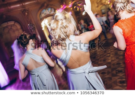 Stok fotoğraf: An · düğün · dans · güzel · yeni · evli