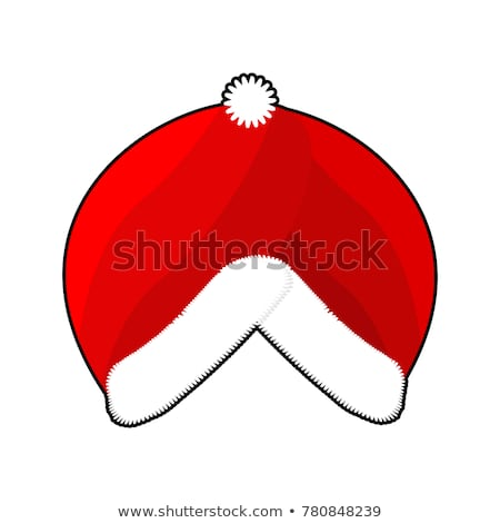 Santa Turban. East Islamic Headdress. Red cap whit fur. Muslim C Stock photo © popaukropa