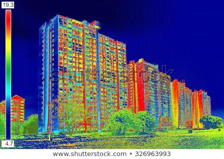 Chaleur perte résidentiel bâtiment technologie Photo stock © smuki