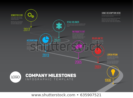 Vector Dark Infographic timeline report template  Stock photo © orson