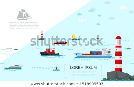 kikötő · bója · citromsárga · ipari · hatalmas · hajó - stock fotó © kidza