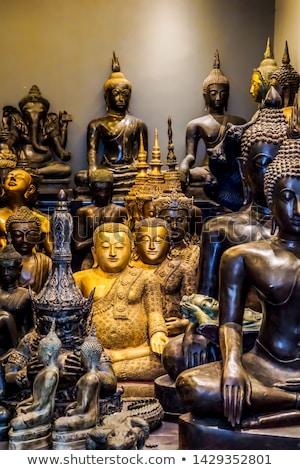 Buddha statua hotel pietra piscina Foto d'archivio © bezikus