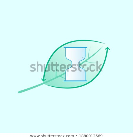 Recycle icon with shaded green arrows Stock photo © Noedelhap