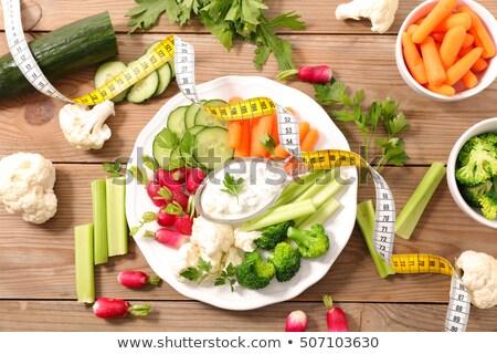 dieta · alimentos · súper · corazón - foto stock © m-studio