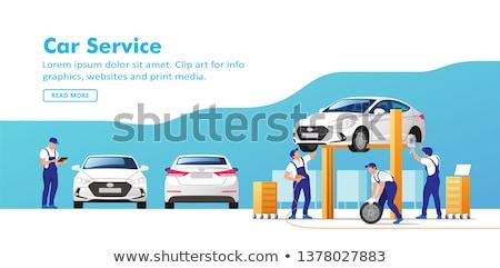 Auto dienst illustratie iconen web design lijn Stockfoto © Genestro