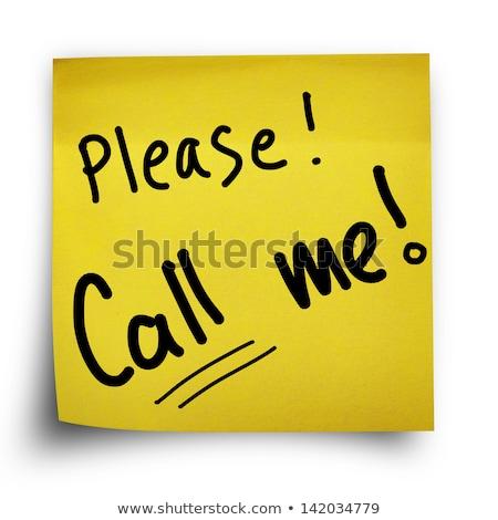 私を呼び出す · 注記 · 電話 · 電話 · にログイン · 連絡 - ストックフォト © mmarcol